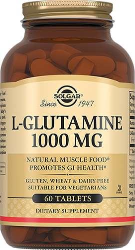 Солгар л-глутамин таблетки 1000мг 60 шт., фото №1