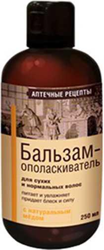 Аптечные рецепты шампунь для сухих/нормальных волос с медом 250мл, фото №1