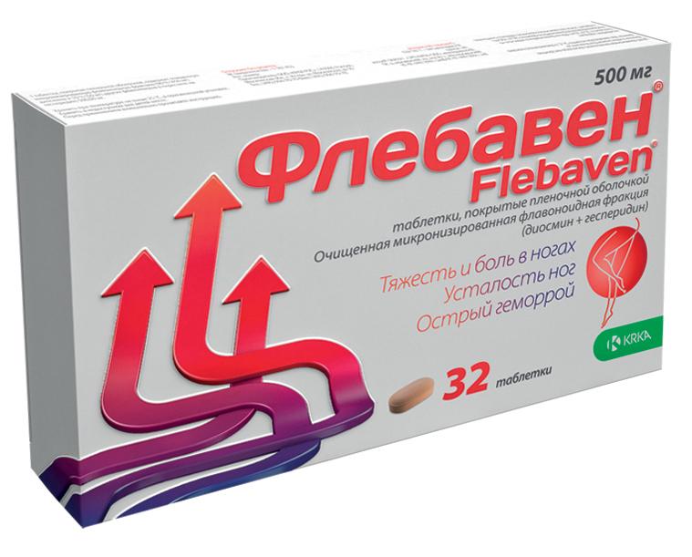 ФЛЕБАВЕН таблетки 500 мг 32 шт.