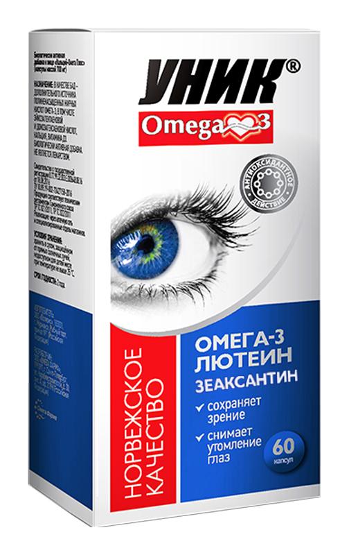 ОМЕГА-3 УНИК капсулы Лютеин/Зеаксантин 60 шт.