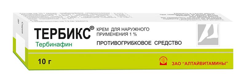 ТЕРБИКС 1% 10г крем для наружного применения