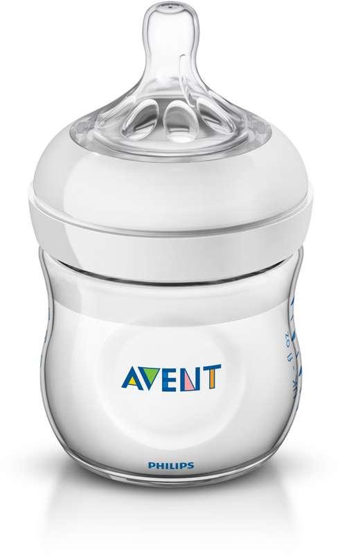 Авент натурель бутылочка для кормления с соской для новорожденных 86025 (scf690/17) / (scf030/17) 125мл, фото №1