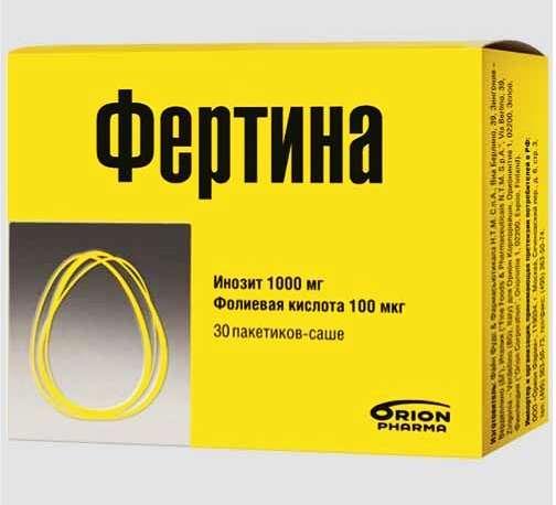 Фертина инозит 1000мг фолиевая 100мкг саше 3г 30 шт., фото №1