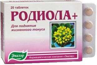 Родиола + таблетки 250мг 20 шт., фото №1