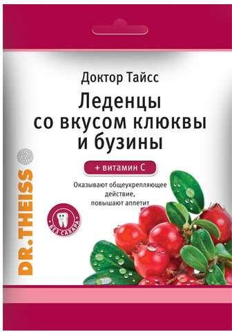 Тайсс леденцы клюква, бузина, витамин с 50г, фото №1