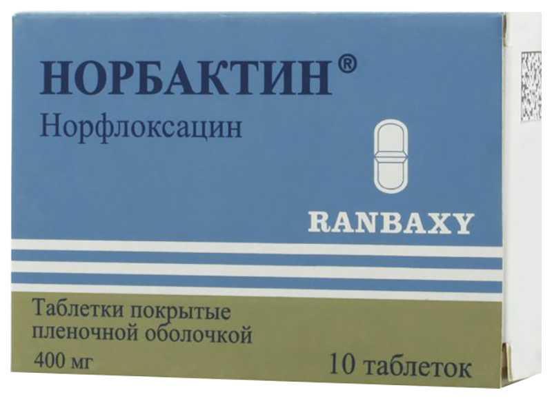 НОРБАКТИН таблетки 400 мг 10 шт.