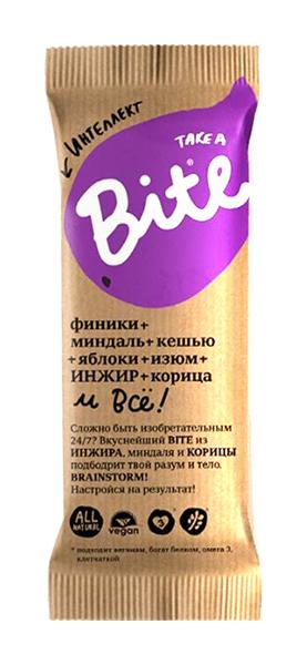 Тэйк э байт батончик фруктово-ореховый миндаль-яблоко-корица (интеллект) 45г, фото №1