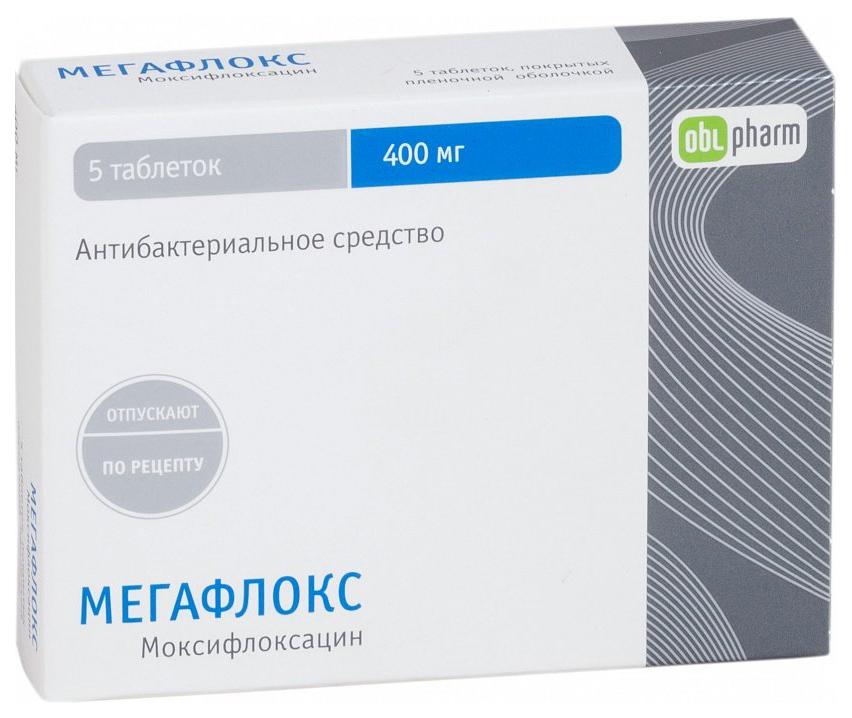 МЕГАФЛОКС таблетки 400 мг 5 шт.