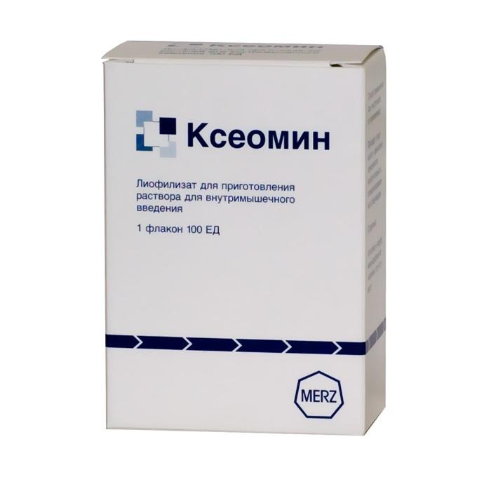 Ксеомин лиофилизат для приготовления раствора для внутримышечного введения 100 ЕД флакон 1 шт.;