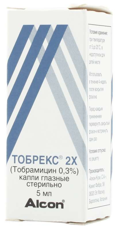 ТОБРЕКС 2Х 0,3% 5мл капли глазные