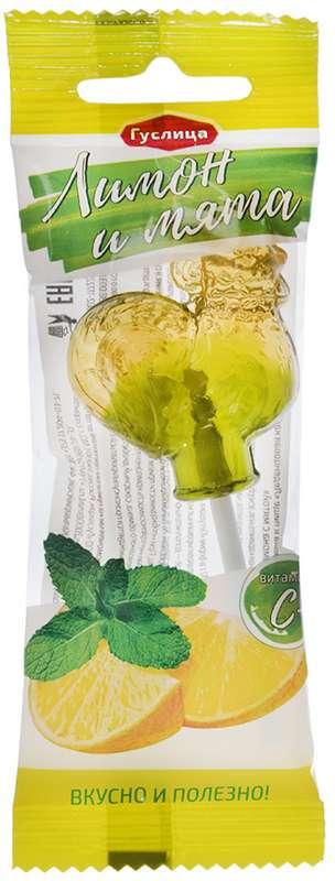 Азбука здоровья карамель леденцовая с витамином c лимон с мятой 17г, фото №1