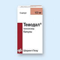 ТЕМОДАЛ капсулы 100 мг 5 шт.