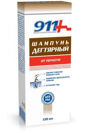 911 дегтярный шампунь против перхоти 150мл, фото №1