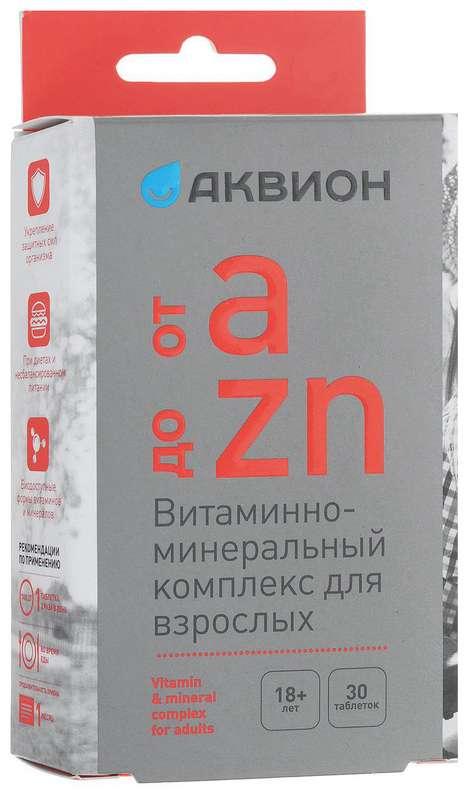 Аквион таблетки витаминно-минеральный комплекс от а до цинка 30 шт., фото №1