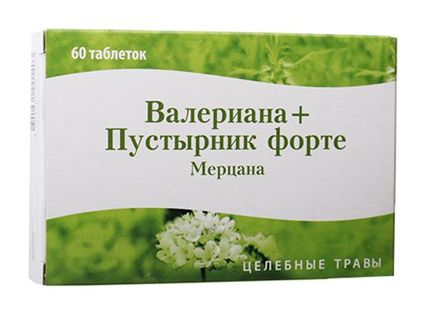 ВАЛЕРИАНА+ПУСТЫРНИК ФОРТЕ МЕРЦАНА таблетки 60 шт.
