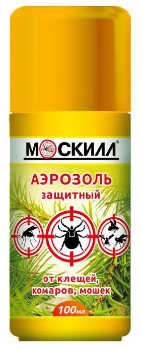 Москилл аэрозоль максимум от комаров/клещей/мошек 100мл, фото №1