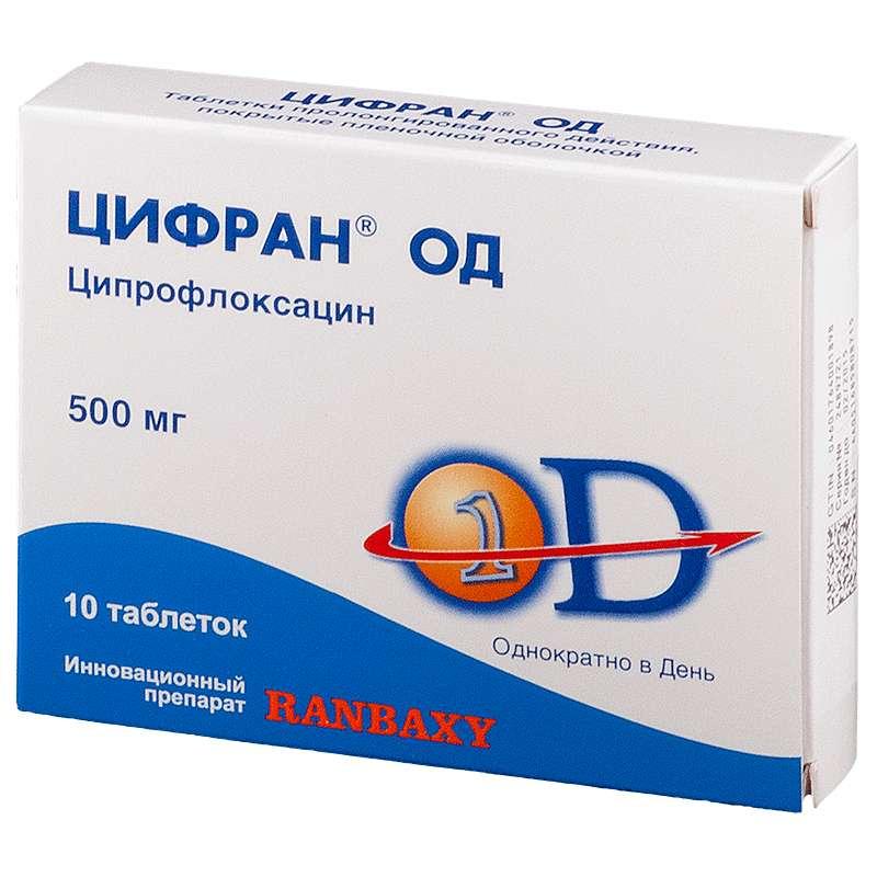 ЦИФРАН ОД таблетки 500 мг 10 шт.