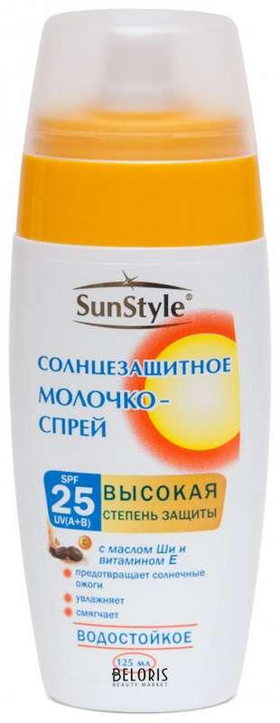 Сан стайл молочко-спрей spf-25 для загара 125мл, фото №1