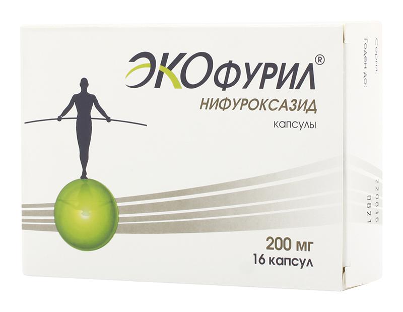 ЭКОФУРИЛ 200мг 16 шт. капсулы