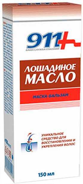 911 лошадиное масло маска-бальзам для всех типов волос 150мл, фото №1