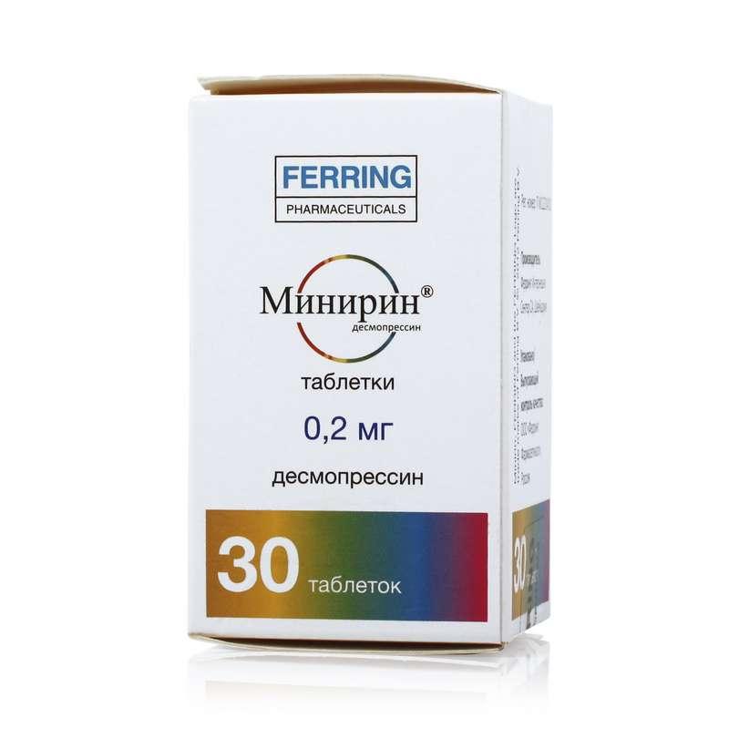 МИНИРИН таблетки 0.2 мг 30 шт.