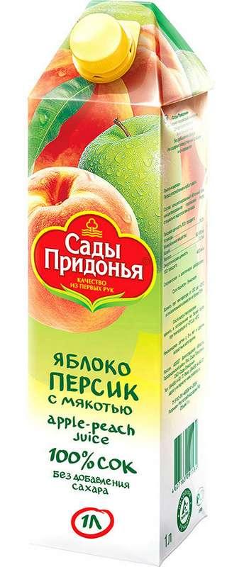 Сады придонья сок яблоко/персик 1л, фото №1