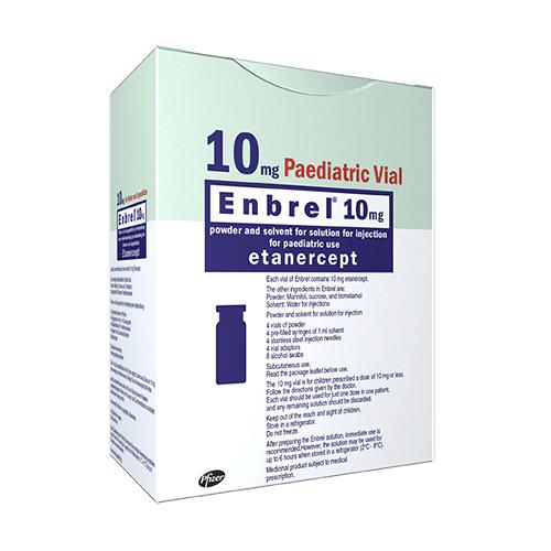 Энбрел 10мг 4 шт. лиофилизат для приготовления раствора для подкожного введения + комплект, фото №1
