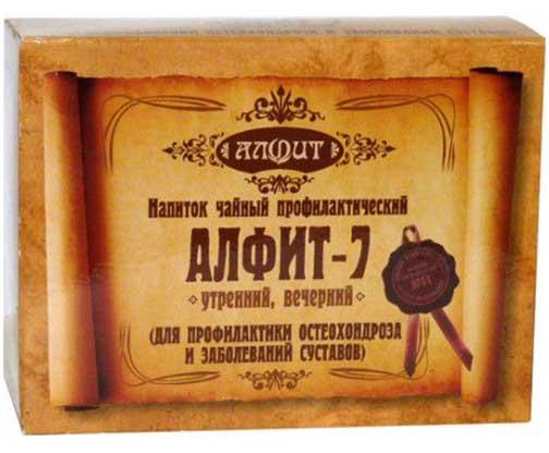 Алфит 7 профилактика остеохондроза фитосбор утренний/вечерний 2г 60 шт., фото №1