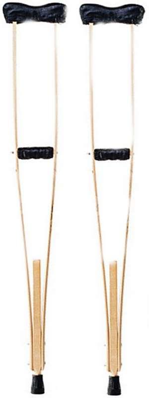 Аверсус костыли деревянные для взрослых с мягкими чехлами на подмышечники и ручки с упс арт.749м 2 шт., фото №1