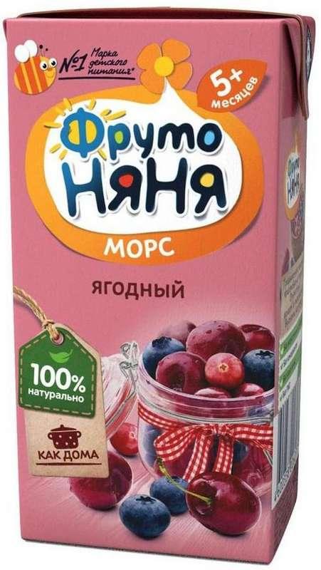 Дп фрутоняня морс клюкв/черн/вишн.0,2л 5+, фото №1