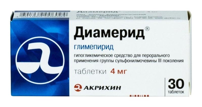 ДИАМЕРИД таблетки 4 мг 30 шт.