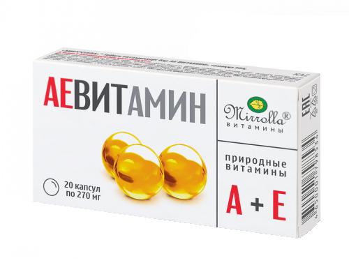 Мирролла аевит природные витамины капсулы 0,2г 20 шт., фото №1