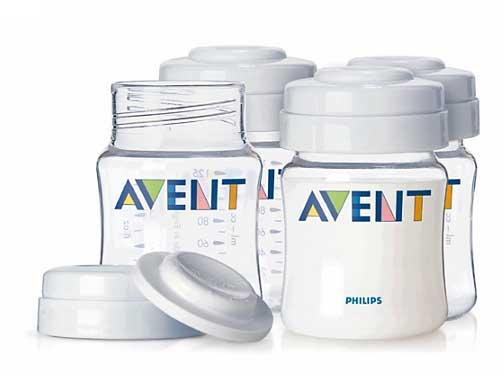 Авент набор контейнеров для хранения грудного молока 80160 (scf640/04) 4 шт., фото №1
