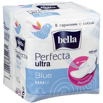 Белла перфекта ультра прокладки гигиенические супертонкие блю 10 шт., фото №1