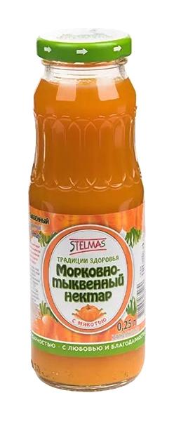Стэлмас нектар морковно-тыквенный 0,25л упаковка, фото №1