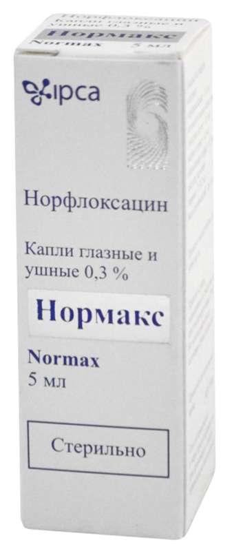 Нормакс 0,3% 5мл капли глазные/ушные, фото №1