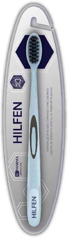 Биси фарма хилфен зубная щетка средняя голубая с черной щетиной, фото №1
