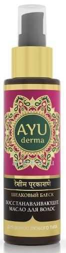 Аюдерма масло для волос восстанавливающее аюрведическое шелковый блеск 100мл, фото №1
