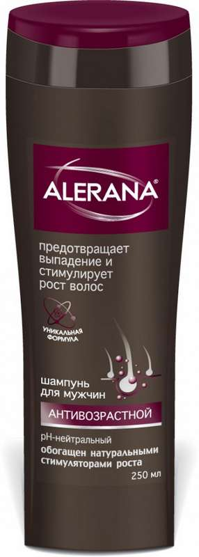 Алерана шампунь для мужчин антивозрастной 250мл, фото №1