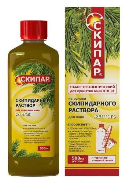 Скипар скипидарная эмульсия желтая набор терапевтический для ванн 01 500мл, фото №1
