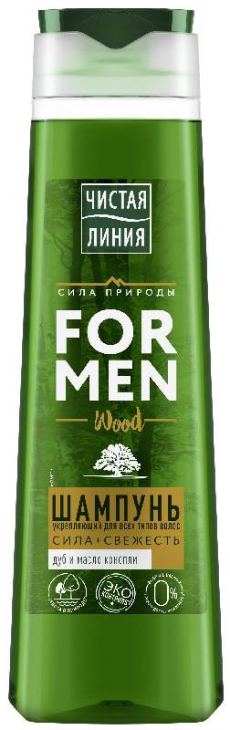 Чистая линия шампунь для мужчин укрепляющий дуб/можжевельник 400мл, фото №1