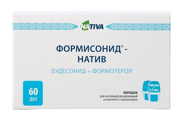 ФОРМИСОНИД-НАТИВ порошок для приготовления раствора для приема внутрь 160 мкг/4,5 мкг 60 шт.