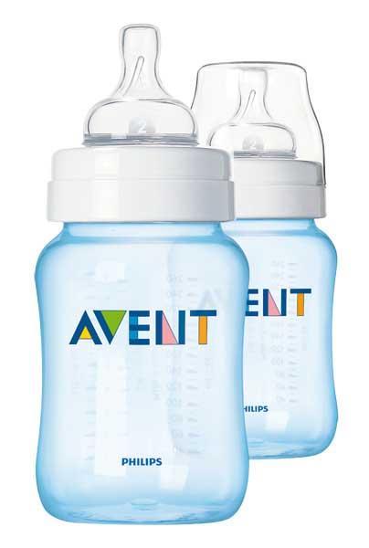 Авент классик бутылочка для кормления 81460 (scf685/27) голубая 260мл 2 шт., фото №1