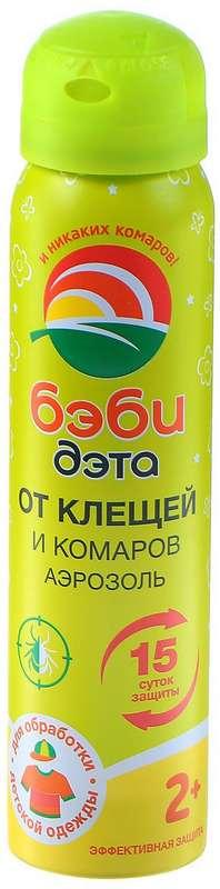 Дэта бэби аэрозоль от клещей/комаров 100мл, фото №1