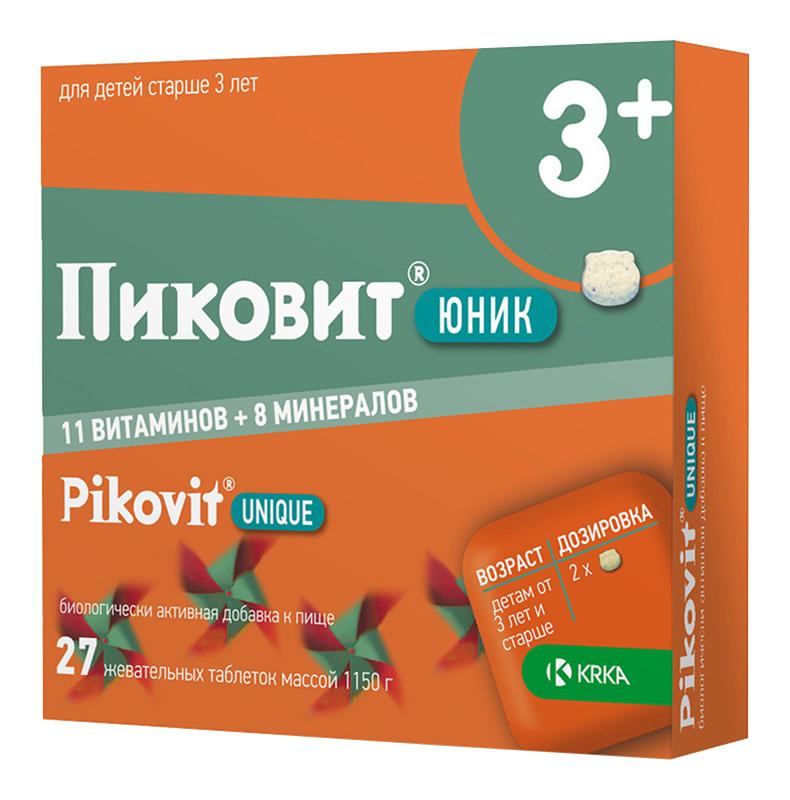 ПИКОВИТ ЮНИК таблетки жевательные 27 шт.