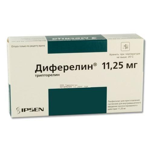 ДИФЕРЕЛИН 11,25мг 1 шт. лиофилизат для приготовления суспензии для внутримышечного введения пролонгированного действия