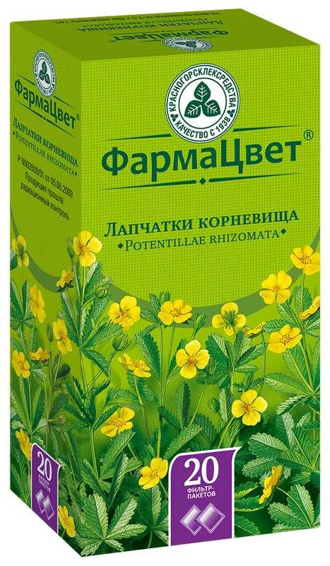 ЛАПЧАТКИ КОРНЕВИЩА С КОРНЯМИ 20 шт. фильтр-пакет