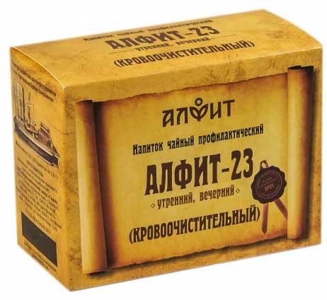 Алфит 23 кровоочистительный фитосбор утренний/вечерний 2г 60 шт., фото №1