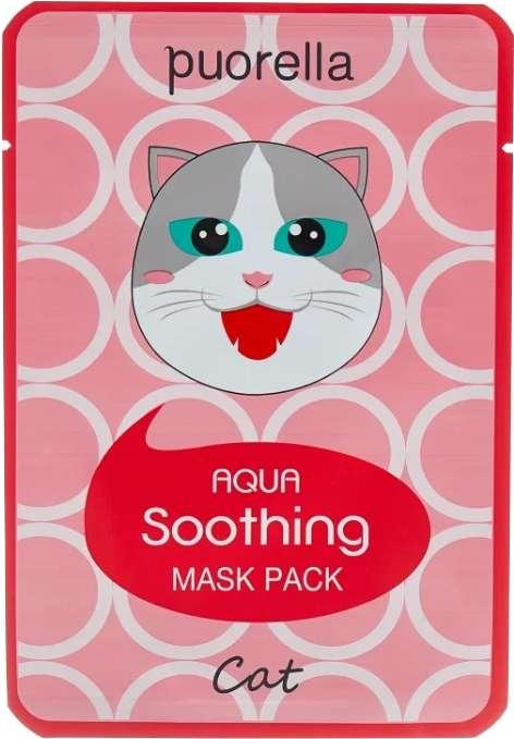 Пуорелла аква маска для лица успокаивающая кошка, фото №1