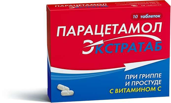 ПАРАЦЕТАМОЛ ЭКСТРАТАБ таблетки 10 шт.